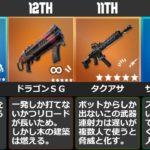 【フォートナイト】シーズン5武器最強ランキングTOP13【データ比較】