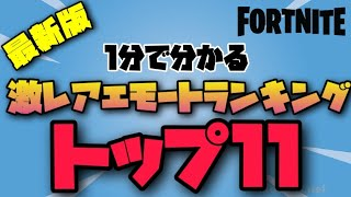 【最新版】激レアエモートランキング【フォートナイト/Fortnite】
