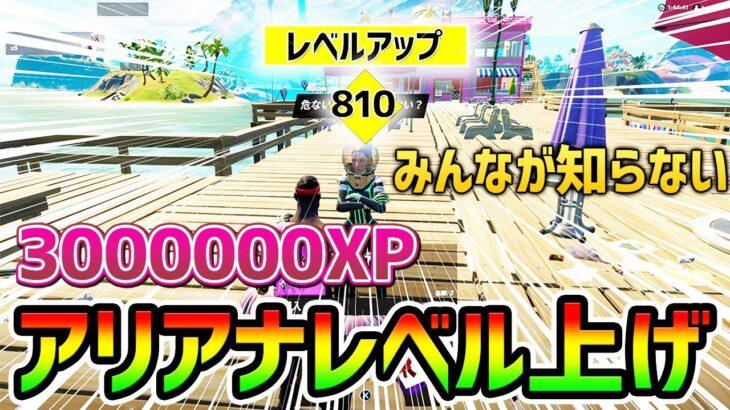 【フォートナイト】1日で3000000XP!アリアナを使ったチート級レベル上げ【 Fortnite バグ  シーズン8 ギフト企画】